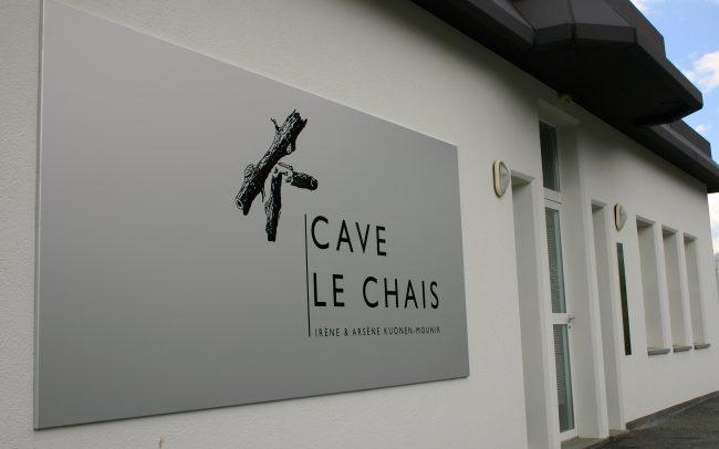 Enseignes - Cave le Chais - Adhésif sur tôle aluminium eloxé