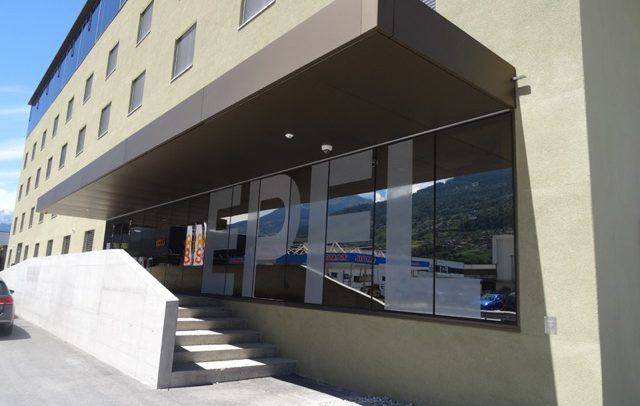 Enseignes - EPFL Vitrine - Adhésif sur vitrine