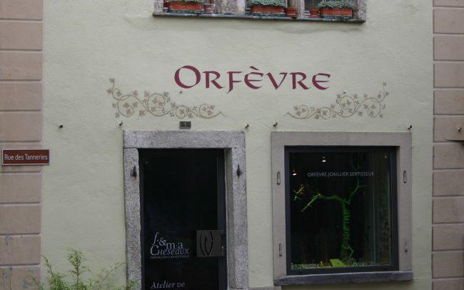 Enseignes - Orfèvre - Peinture sur façade