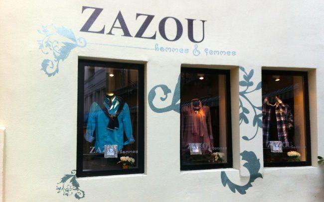 Enseignes - Boutique Zazou - Adhésif sur façade