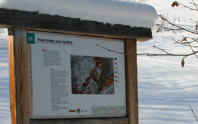 Sentiers Didactiques - Bisse de la Tsandra - Impression sur tôle en aluminium