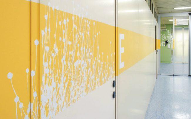 Signalisations - Institut Central des Hôpitaux du Valais - Adhésif et peinture sur parois